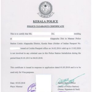 Obtaining Police Clearance Certificate